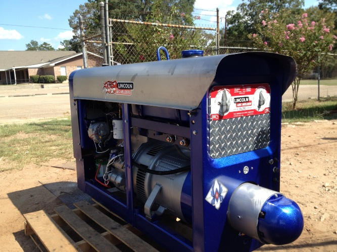 Lincoln SA-200 welding machine, rebuilt and customized by the service department at Weldmart Online