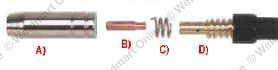 10 035 Daytona Mig  # 1459 Contact Tips Welder Parts