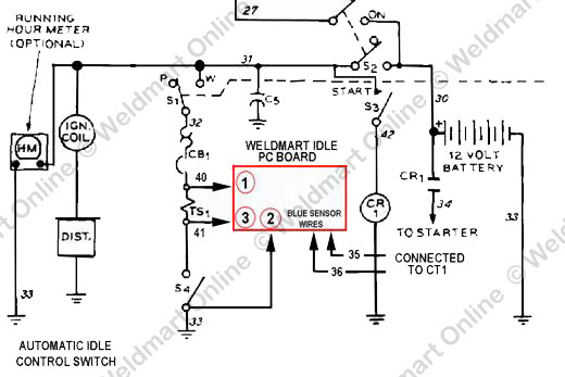 milleraead200_idler_schematic_smaller installation instructions weldmart idler upgrade board for the Millermatic 250 Manual at bakdesigns.co