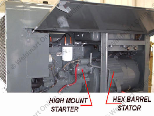 understanding and troubleshooting the lincoln sa 200 dc generatorlabeled machine photograph showing the high mount starter and hex barrel stator